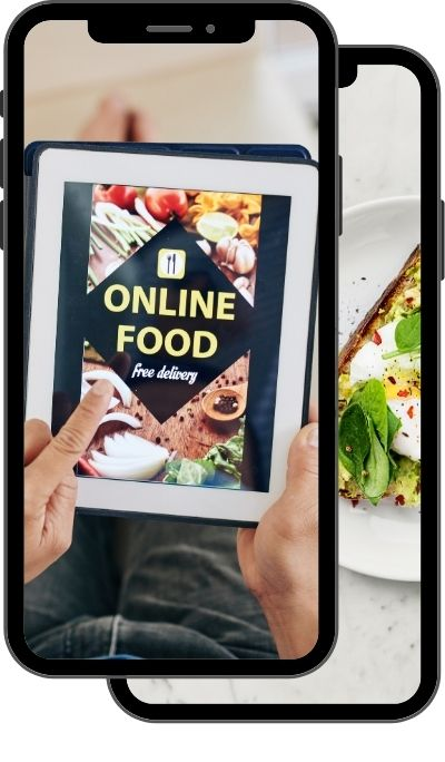 Cellphone displaying online food ordering